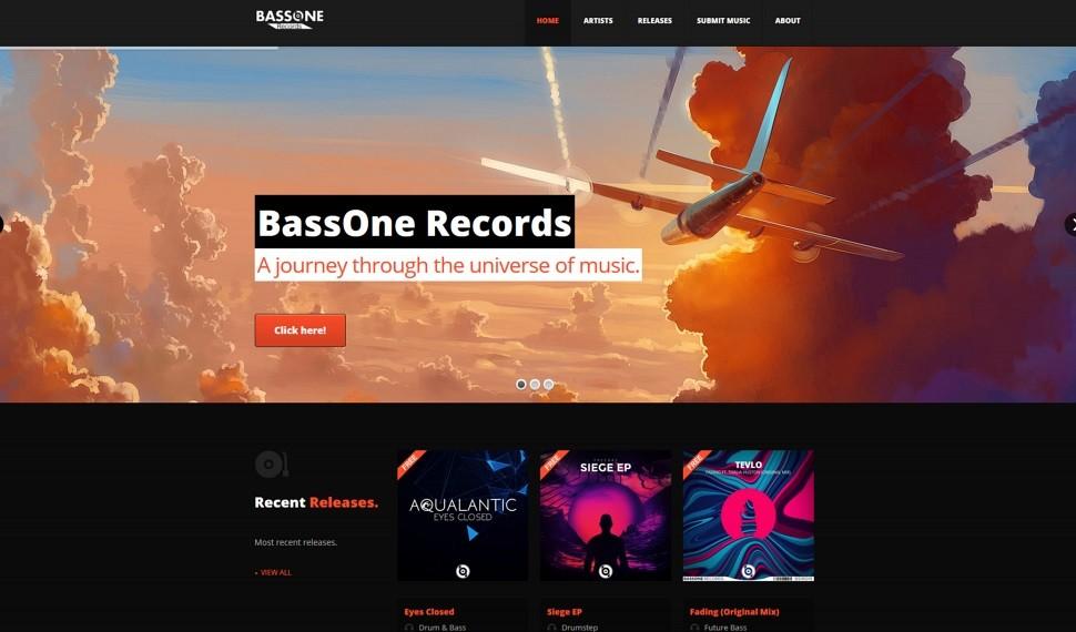 BassOne Records screenshot thumbnail.